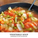 Want some homemade vegetable soup? This easy soup recipe makes a delicious and healthy vegetarian dinner in just 40 minutes! | Tiny Kitchen Cuisine | http://tiny.kitchen