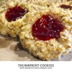 Thumbprint cookies are cookies with a dollop of jam in their center. This is one of the best cookie recipes for walnut thumbprint cookies. Just add jam! | Tiny Kitchen Cuisine | http://tiny.kitchen