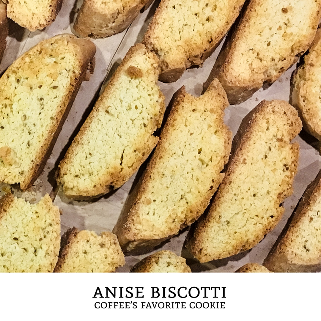 These italian anise biscotti are thick crunchy cookies with a hint of licorice flavor. Best served with a cup of coffee! | Tiny Kitchen Cuisine | http://tiny.kitchen