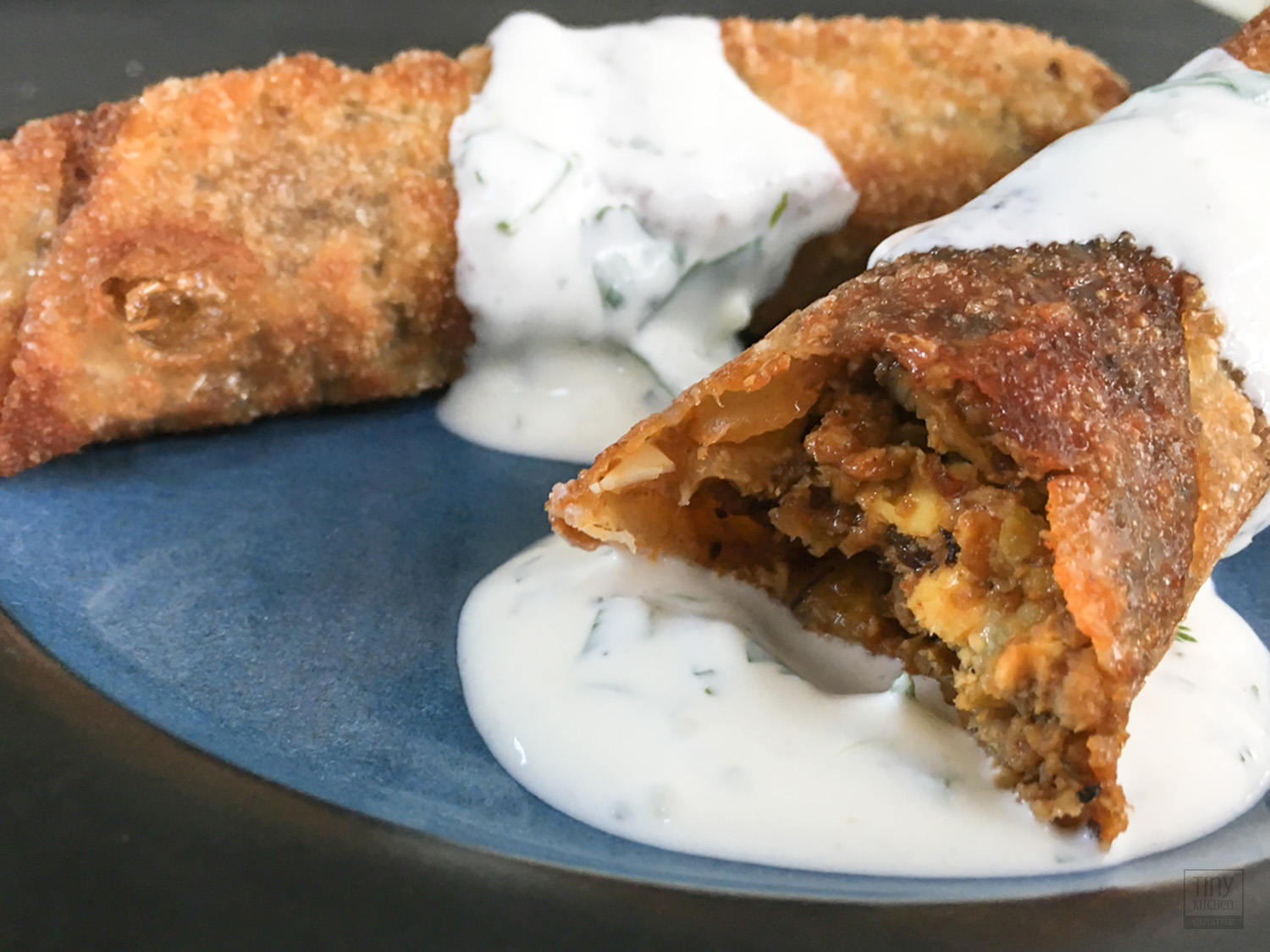 Want an easy method for how to make empanadas? This recipe for vegetarian empanads uses the flavors of a traditional beef and chorizo empanada with an untraditional twist! | Tiny Kitchen Cuisine | https://tiny.kitchen