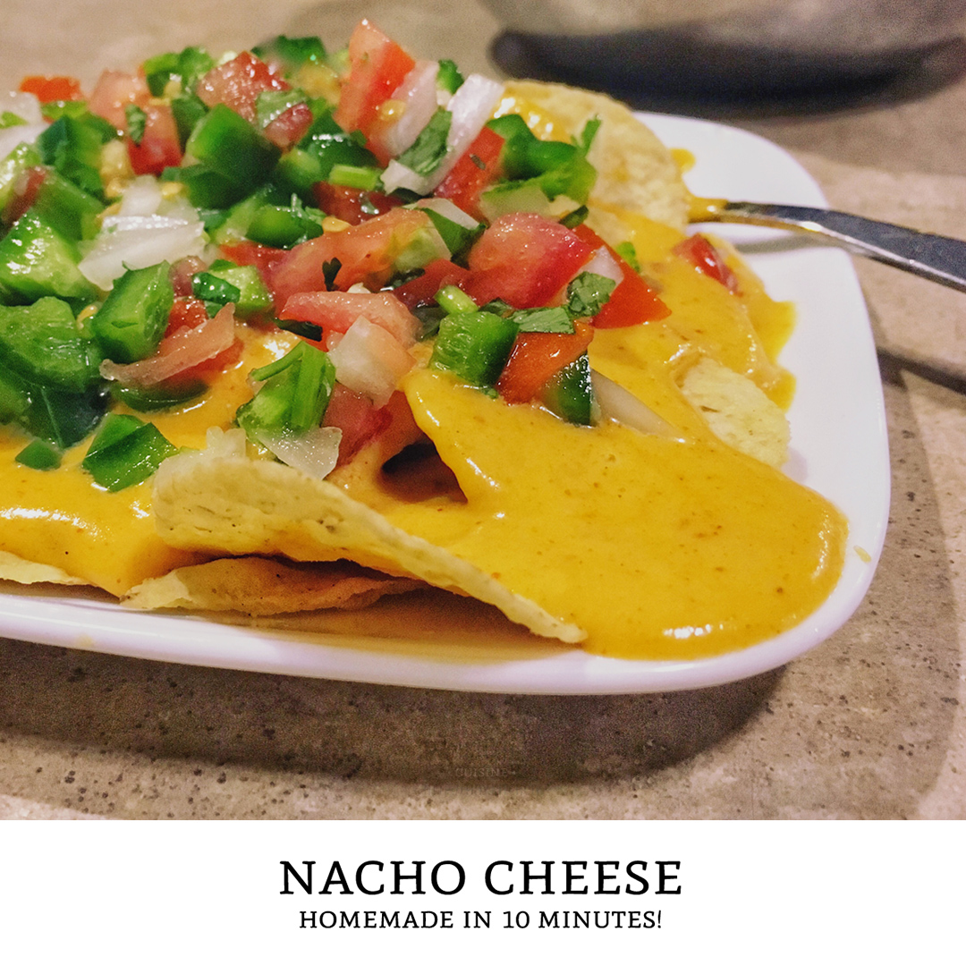 Spicy Nacho Cheese Sauce - How to make cheese sauce at home in just 10 minutes! | Tiny Kitchen Cuisine | https://tiny.kitchen/