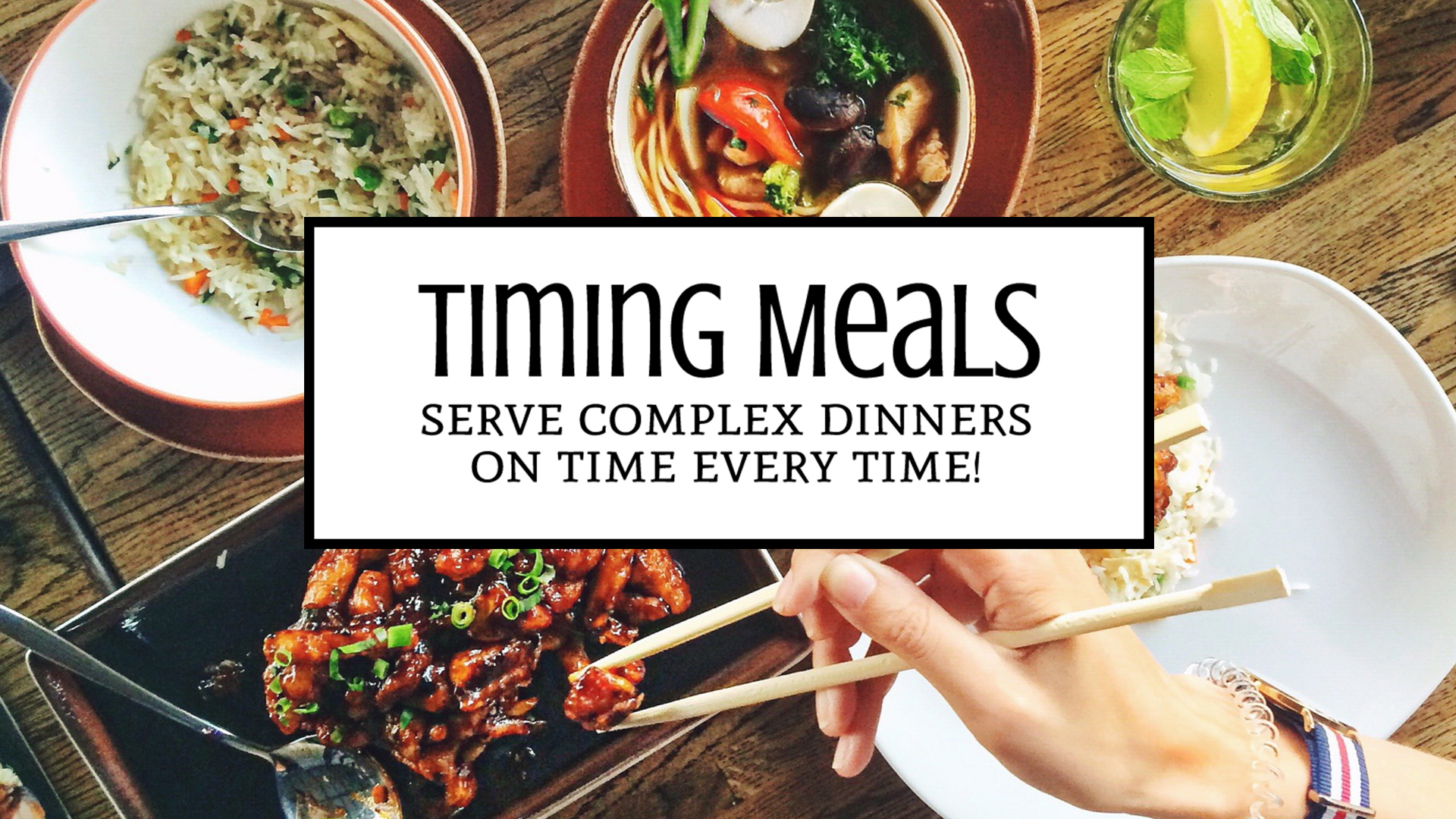 How to Time Cooking Large Meals in your Tiny Kitchen: Tips to help you plan and execute complex homemade dinners from a small space. | Tiny Kitchen Cuisine | http://tiny.kitchen
