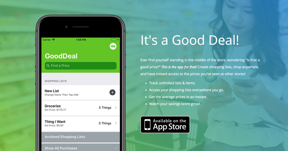 Good Deal - Shopping List & Price Tracker for iOS