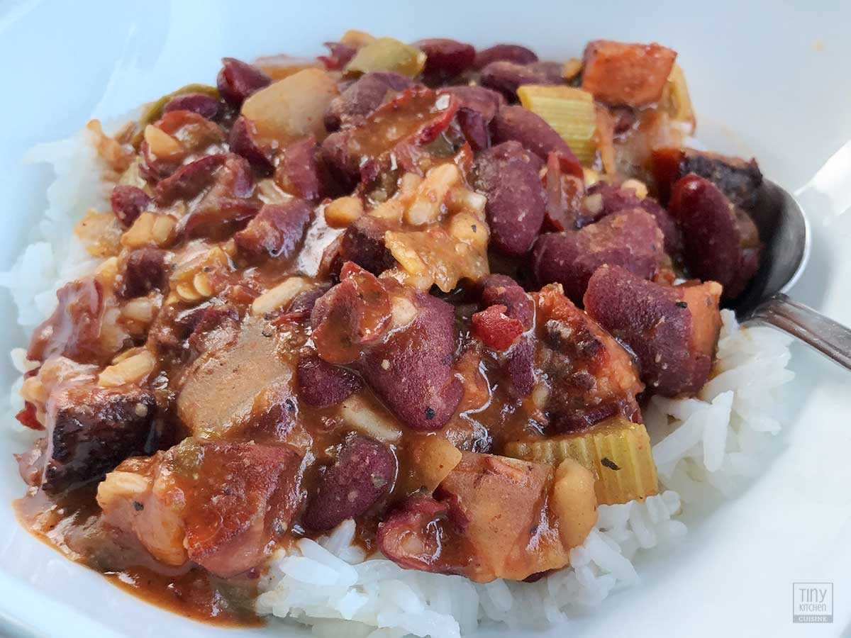 Enjoy this spicy recipe for Red Beans and Rice, a popular Louisiana Creole dish, that can be on your table from start to finish in less than an hour.